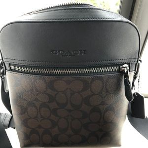 coach mens messenger bag Leather